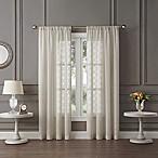 Tiburon Sheer 84-Inch Rod Pocket Window Curtain Panel in Linen
