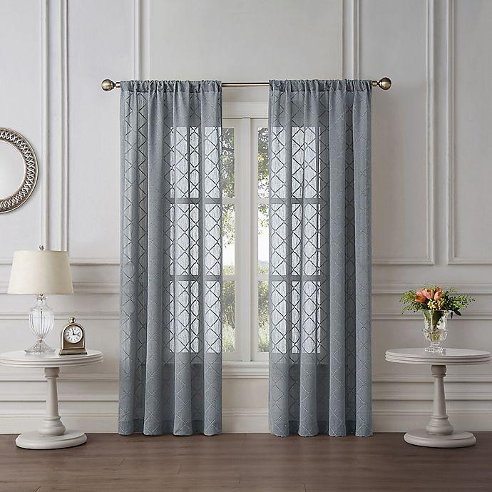 Tiburon Sheer Rod Pocket Window Curtain Panel Bed Bath Beyond