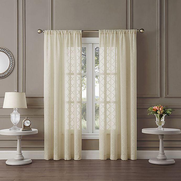 Alternate image 1 for Tiburon Sheer 63-Inch Rod Pocket Window Curtain Panel in Ivory