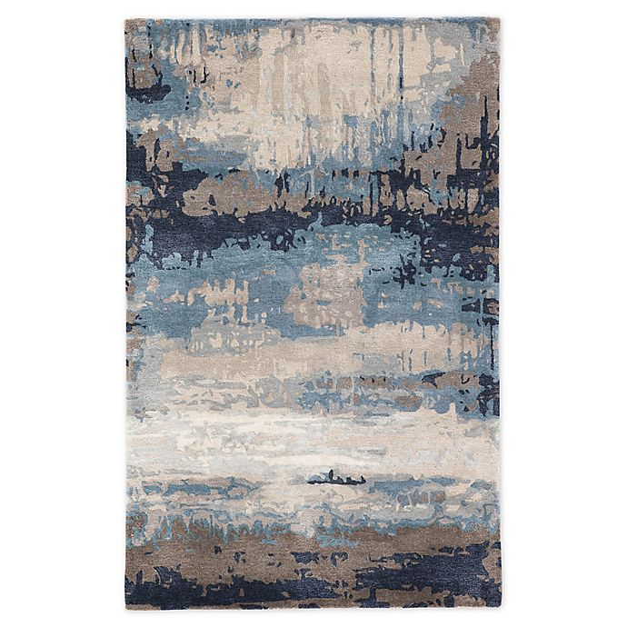 Alternate image 1 for Jaipur Living Benna Abstract 8' x 11' Handcrafted Area Rug in Blue
