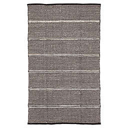 Nikki Chu by Jaipur Living Chevron Rug in Black