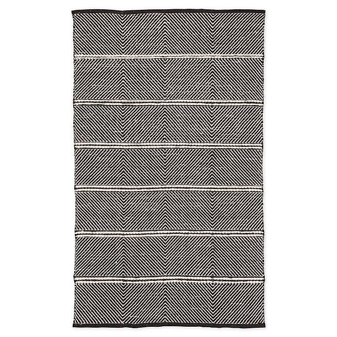 Alternate image 1 for Nikki Chu by Jaipur Living Chevron 9' x 12' Area Rug in Black