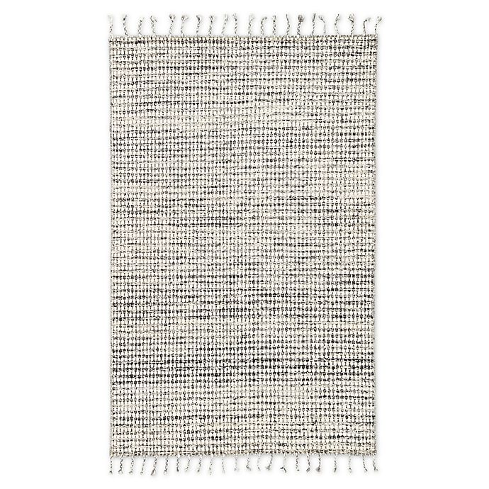 Alternate image 1 for Jaipur Living Perkins Dot 9' x 13' Handcrafted Area Rug in Ivory/Black