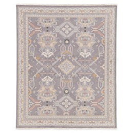Jaipur Wolter Medallion Hand-Knotted Rug in Grey