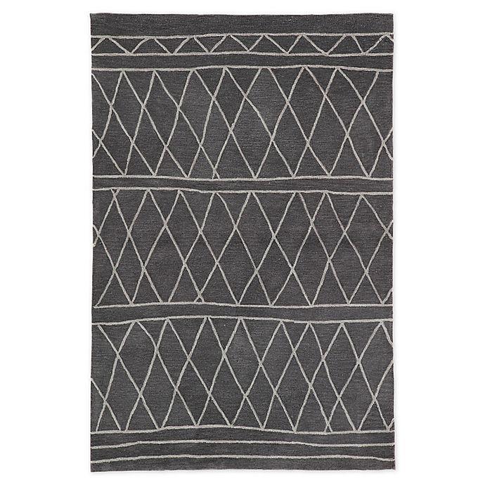 Alternate image 1 for Jaipur Trellis 2' x 3' Accent Rug in Dark Grey