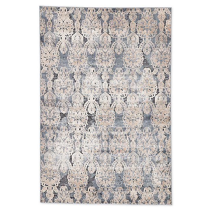 Alternate image 1 for Jaipur Roz Damask 2' x 3' Accent Rug in Blue