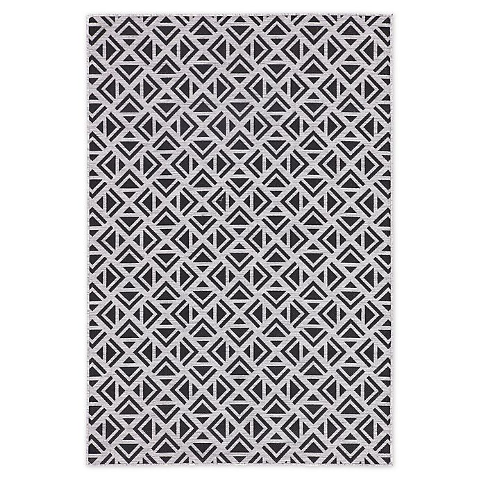 Alternate image 1 for Jaipur Geometric Indoor/Outdoor 2' x 3'7 Accent Rug in Light Grey