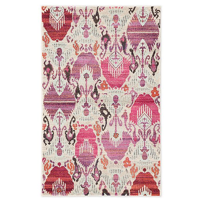 Alternate image 1 for Jaipur Living Ikat 2' x 3' Accent Rug in Ivory/Pink