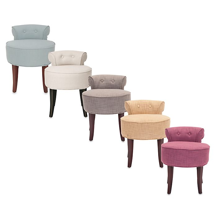 Strange Safavieh Georgia Vanity Stool Bed Bath Beyond Machost Co Dining Chair Design Ideas Machostcouk
