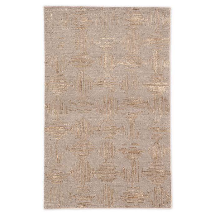 Alternate image 1 for Jaipur Living Geometric Handcrafted Rug in Taupe