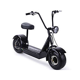 MotoTec 48v FatBoy Electric Scooter in Black
