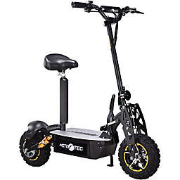 MotoTec 48-Volt Electric Scooter in Black