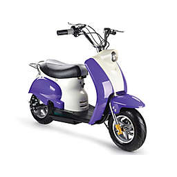 MotoTec 24-Volt Electric Moped in Purple