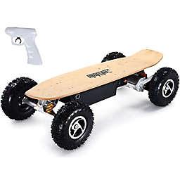MotoTec 36-Volt Dual Motor Electric Dirt Skateboard in Black