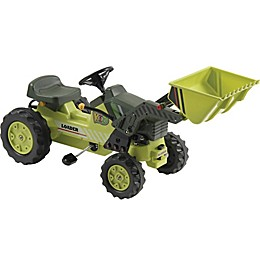 Kalee Pedal Tractor Ride-On with Loader in Green