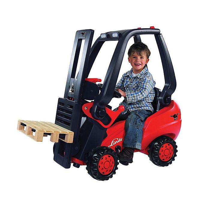 Alternate image 1 for Linde Big Pedal Forklift Ride-On in Red