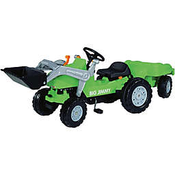 Big Jimmy Loader Tractor and Trailer Pedal Ride-On in Green