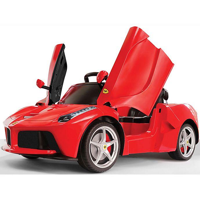 Alternate image 1 for Rastar Ferrari LaFerrari 12-Volt Electric Ride-On in Red