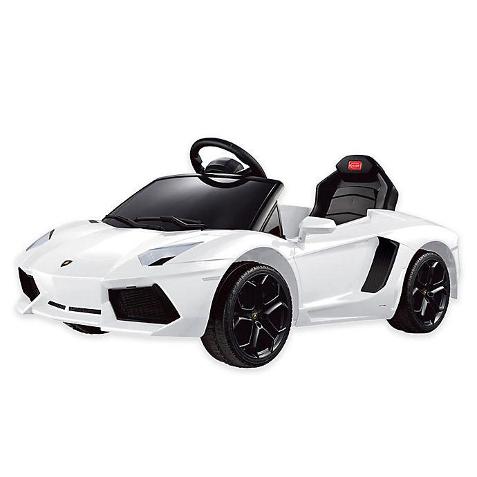 Alternate image 1 for Rastar Lamborghini Aventador 6-Volt Electric Ride-On in White