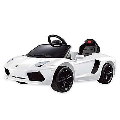 Rastar Lamborghini Aventador 6-Volt Electric Ride-On in White