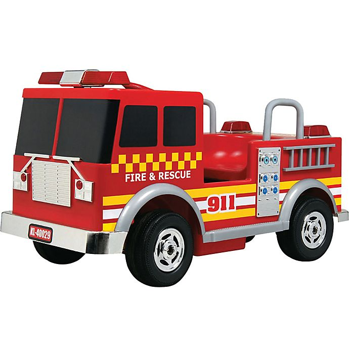 Alternate image 1 for Kalee 12-Volt Electric Fire Truck Ride-On in Red