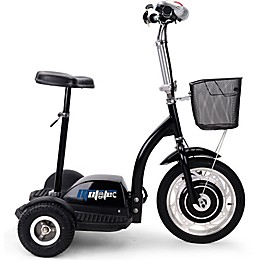 MotoTec 36-Volt 350-Watt Electric Trike in Black