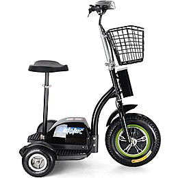 MotoTec 48-Volt 500-Watt Electric Trike in Black