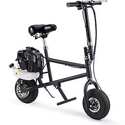 MotoTec 49cc 2-Stroke Gas-Powered Mini Bike in Black