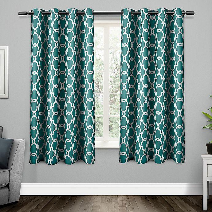 Alternate image 1 for Gates Grommet Top Room Darkening Window Curtain Panel Pair