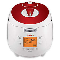 Cuckoo CRP-M1059F 10-Cup Rice Cooker in White/Red