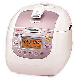 Cuckoo CRP-G1015F 10-Cup Rice Cooker in White/Pink