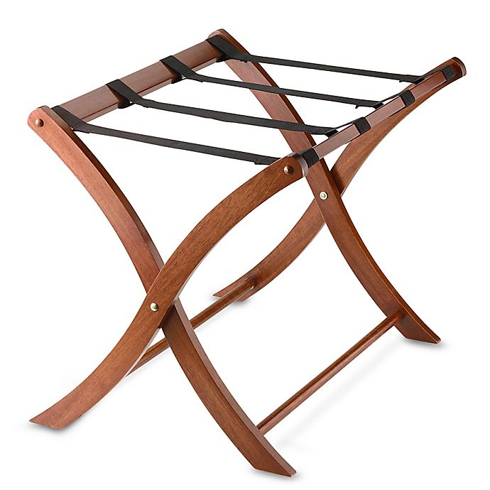 Alternate image 1 for Solid Wood Luggage Rack in Walnut