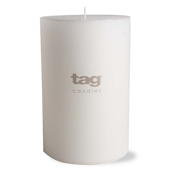 Alternate image 1 for tag 4-Inch x 6-Inch Unscented Long Burning Pillar Candle