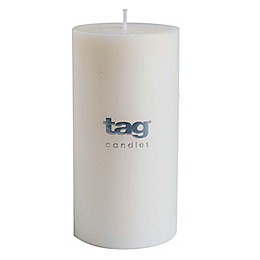 tag 3-Inch x 6-Inch Chapel Unscented Long Burning Pillar Candle in Ivory