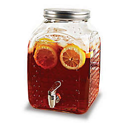 Circleware Hobnail Square 210 oz. Beverage Dispenser with Lid