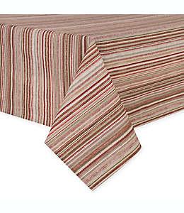 Mantel rectangular plastificado a rayas de 1.52 x 2.64 m