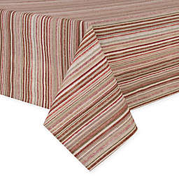 Textured Stripe Laminated Fabric 60-Inch x 120-Inch Oblong Tablecloth