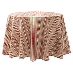Textured Stripe Laminated Fabric 70-Inch Round Tablecloth