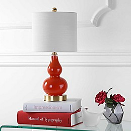 "JONATHAN Y Anya 20.5"" Mini Glass Table Lamp"