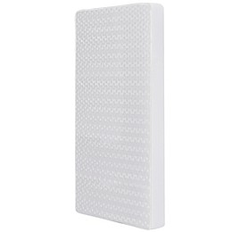 Dream On Me Breathable Orthopedic Firm Foam Crib Mattress in White