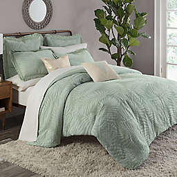KAS ROOM Terrell King Duvet Cover in Sea Glass