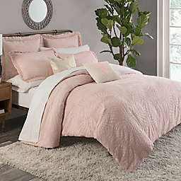 KAS ROOM Terrell King Duvet Cover in Blush