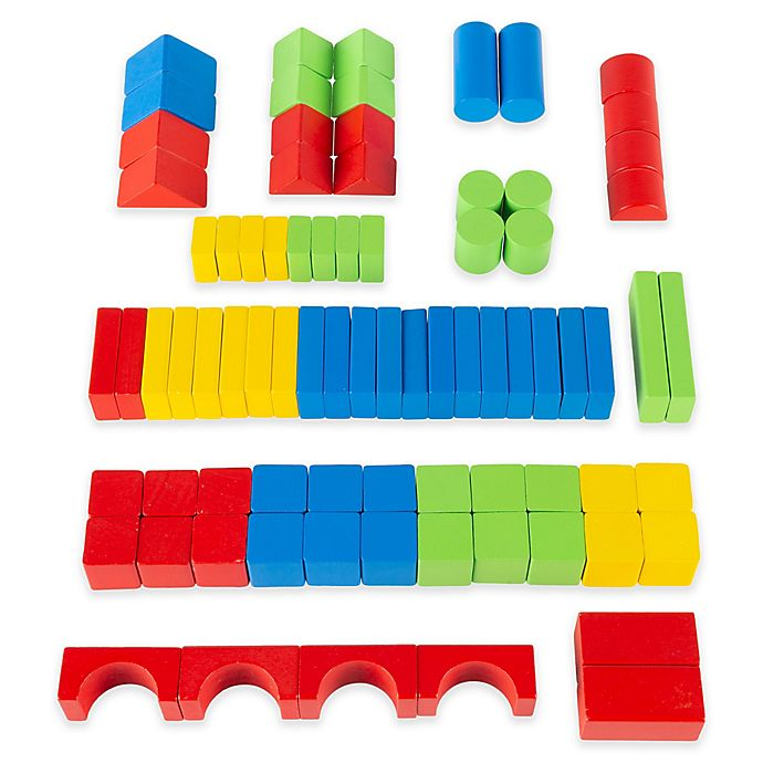 Alternate image 1 for Hey! Play! 80-Piece Wooden Building Block Set