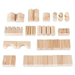 Hey! Play! 65-Piece Wooden Building Block Set