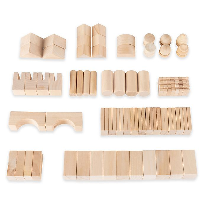 Alternate image 1 for Hey! Play! 65-Piece Wooden Building Block Set
