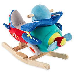 Happy Trails Plush Rocking Plane Ride-On in Blue