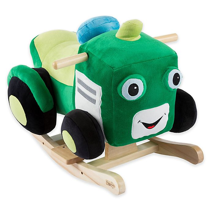 Alternate image 1 for Happy Trails Plush Rocking Tractor Ride-On in Green