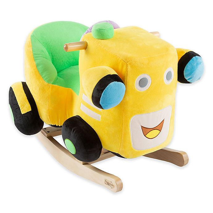 Alternate image 1 for Happy Trails Plush Rocking Train Ride-On in Yellow
