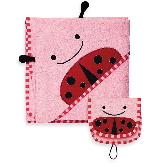 Alternate image 1 for SKIP*HOP® Zoo Towel & Mitt Set in Ladybug