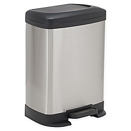Household Essentials® Design Trend 8-Liter Stainless Steel Rectangle Step Trash Can